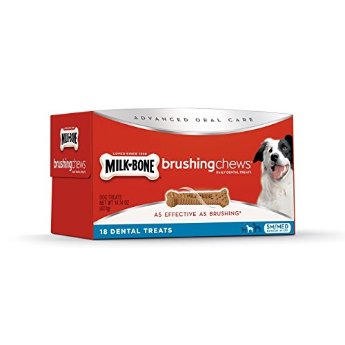 Milk-Bone Brushing Chews Dental Dog Treats, 14.14 Ounce For Small/Medium Dogs -