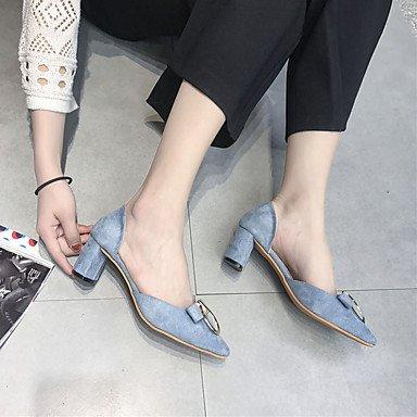 LvYuan Mujer Sandalias Tejido Primavera Verano Paseo Tacón Robusto Negro Azul Claro Marrón Claro 5 - 7 cms light brown
