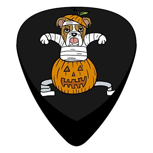 Pimalico Classic Mother Bulldogs At Pumpkin Halloween Design Picks (12 Pack,) for Electric Guitar, Acoustic Guitar, Mandolin, and -
