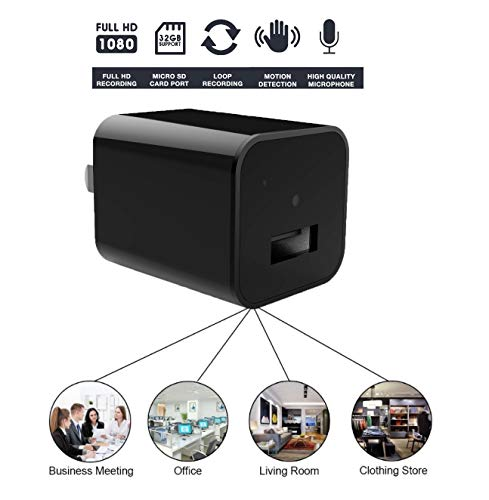 Hidden Camera Adapter – Spy Camera Charger – Mini Spy Camera 1080p – USB Charger Camera – Hidden Spy Camera – Hidden Nanny Cam – Hidden Spy Cam – Hidden Cam – Best Home Security Camera Charger FULL HD