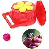 GROWNEER 6-Pack Handheld Hummingbird Feeder Kit, Hand Held Feeders w/ 3 Pcs Cleaning Brushes