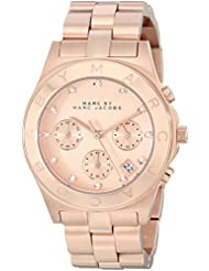 Marc by Marc Jacobs Womens Large Blade Chrono Watch, Rose Gold, One Size