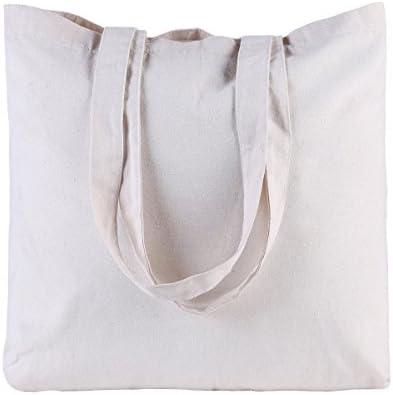 Shopinusa15 7 X15 7 X3 3 Resuable Plain Cotton Canvas Tote Bag
