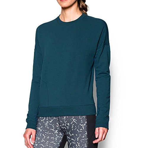 Under Armour Modern Terry Crew Neck Top - Women's Nova Teal / Carbon Heather Small