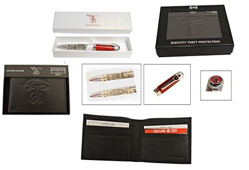 9a212d22a757 Gift Set - Shriner's Pen & RFID Safe Shriner's Logo Wallet