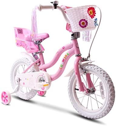 COEWSKE Kid s Bike Steel Frame Children Bicycle Little Princess Style 12-14-16-18 Inch with Training Wheel