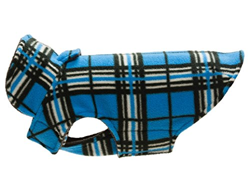 RC Pet Products Whistler Winter Wear V.2 Fleece Dog Coat, Size 12, Blue (Twelve Coat)