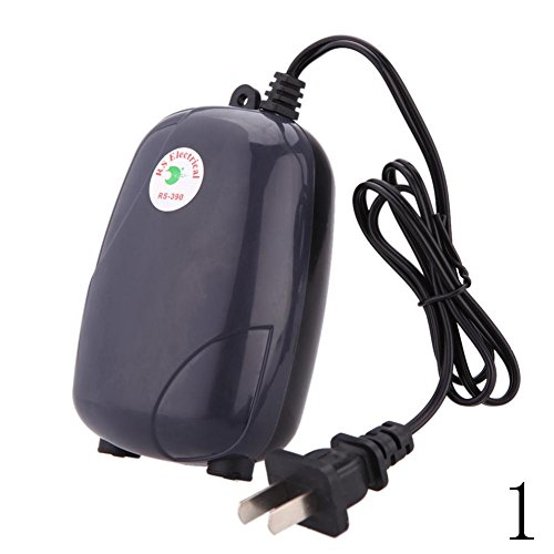 ZEROYOYO Silent 220V 5W Aquarium Air Pump Fish Tank Mini Aerator Oxygen Pump Single Double Outlet with Air Stone