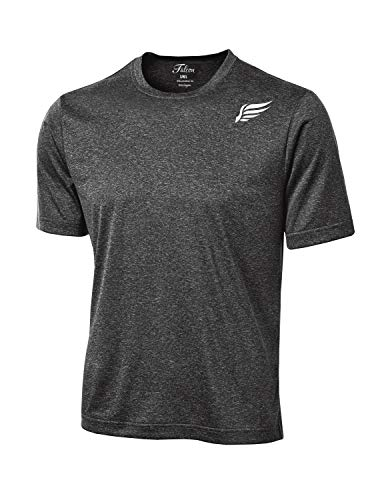MI Falcon Men's Lite Heather Performance T-Shirt Graphite Heather -