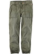 Carter's Girls' Cinched Leg Olive Pants (Size 4)