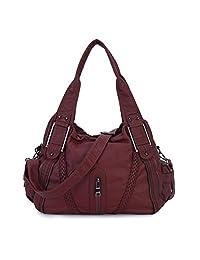 Women PU Leather Handbags Casual Daily Crossbody Fashion Designer Tote Purse Shoulder Bag