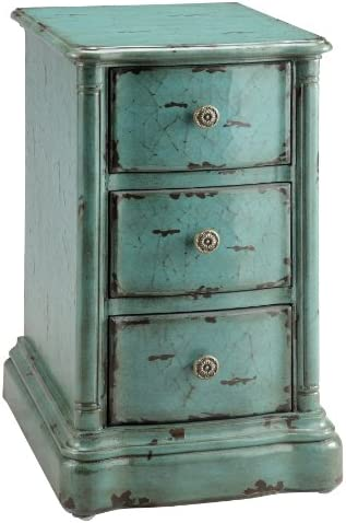 Stein World One 3-Drawer Chest with a Vintage Finish, 16.5 by 19.5 by 28.5-Inch, Turquoise