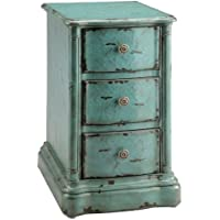 Stein World 47774 One 3-Drawer Chest with a Vintage Finish, 16.5 by 19.5 by 28.5-Inch, Turquoise