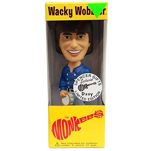 The Monkees Collectible: 2002 Funko Davy Jones The Monkees Wacky Wobbler Spencer Gifts Limited ()
