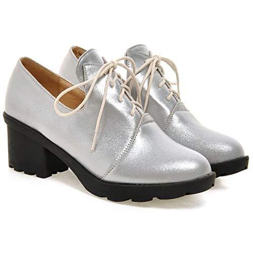 Ville Argent Coolcept À Lacets Blanc Femmes Derbies Chaussures De aIHqfU