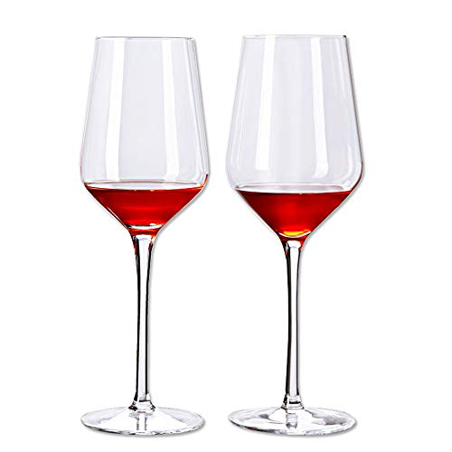 Diy Personalized Wine Glasses (Diy Family Store Set of 2 Wine Glasses Gift Box - Beautifully Designed Lead-Free Red Wine Glasses-Premium Crystal Glass, Perfect for Any Occasion,15.6)