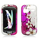 Aimo Wireless LGLM272PCIMT064 Hard Snap-On Image Case for LG Rumor Reflex/Freedom/Converse/Expression C395 - Retail Packaging - Hot Pink/Flowers and Butterfly