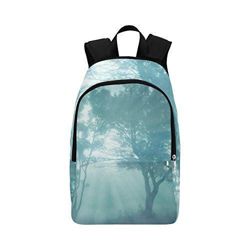 Fog Trees Landscape Lighting Morning Hour Custom Outdoor Shoulders Bag Fabric Backpack Multipurpose Daypacks Adult
