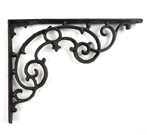 (Wall Shelf Bracket - Ornate Pattern - Cast Iron - 11.25