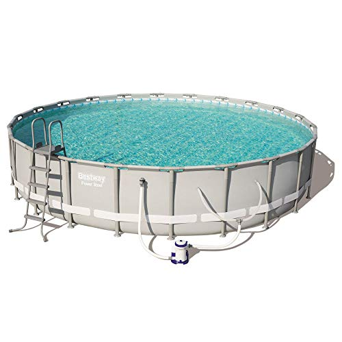 Bestway Power Steel 22in x 4.3ft Above Ground Swimming Pool w/Pump & Filter (Bestway Sand Filter Pump For Swimming Pool)