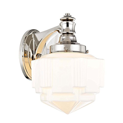 Art Deco Sconce Polished Nickel by Recesso Lighting