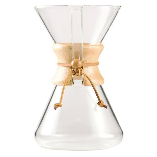Chemex Hand Blown Glass Coffee Maker with Wood Collar and Tie, 40 Ounce image