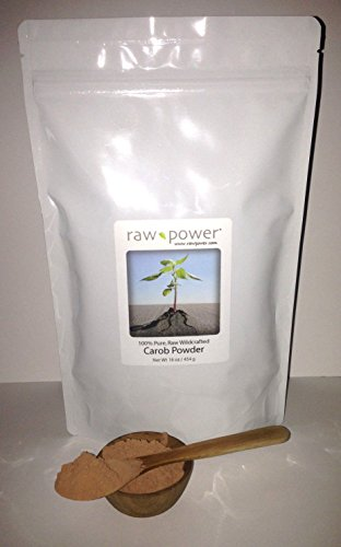 Carob Powder, Raw Power Brand (16 oz, 100% raw and Pure, - Powder Carob Raw