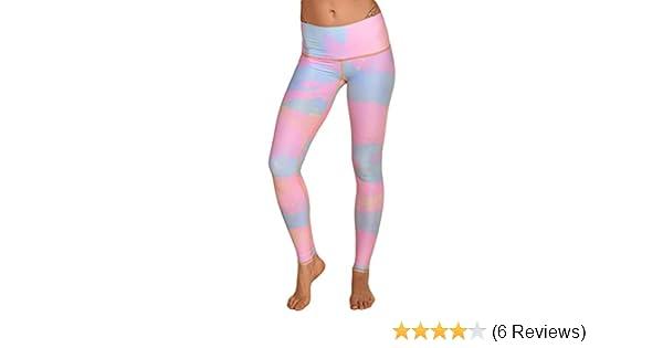 4fd6f242c0ab0 Amazon.com: Teeki New Moon Rainbow Hot Pant Yoga Leggings (Small): Clothing