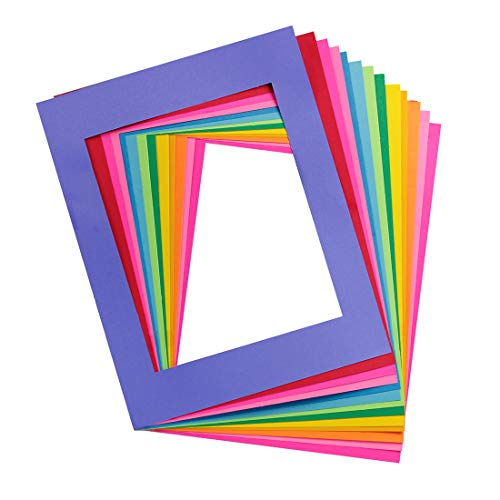 Hygloss Products 34413 Pack Bright Paper Frames Letter Size 48 Pieces 12 Assorted Colors ()