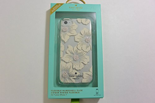 kate spade new york Flexible Hardshell Case for iPhone 7 - Hollyhock Floral Clear/Cream with Stones -