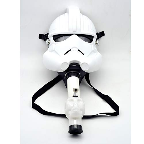 Gas Mask Bong Hookah Smoking Water Tobacco Hookah for Party Star Wars Costume (White)