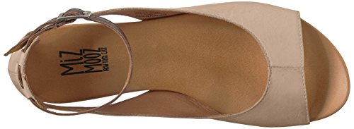 Miz Mooz Women's Angel Flat Sandal, Medium Cream