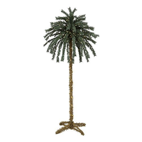 7 Foot Lighted Palm Tree - 300 Lights - Indoor / Outdoor - Lighted Yard Palm Outdoor Tree