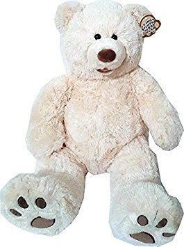 White Plush Bear (Valentine's 25 Inch Plush Teddy Bear - White)