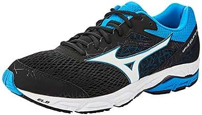 Mizuno Men's Wave Equate Shoes, Black/White/Diva Blue, 10 US