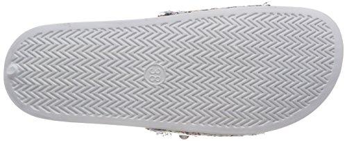 27132 Women's Comb Multicoloured 197 Marco White UK Tozzi Multicoloured White Mules 5 8 FEnwB6a