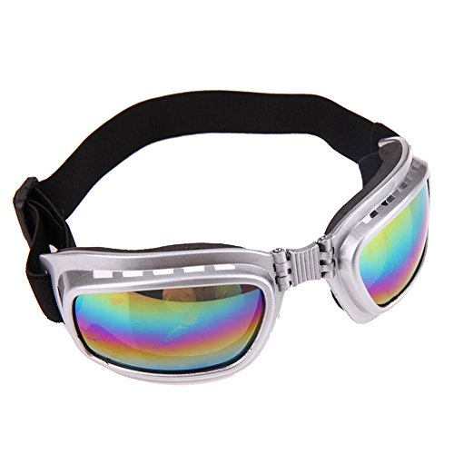 Cool Large Pet Dog Sunglasses Pet Eye Wear Protection Water Proof Pet Supplies Goggle Silver - Sunglasses Chicken