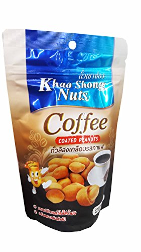 Price comparison product image 3 packs of Khao Shong Nuts, Coffee Coated Peanuts. Healthy and Delicious premium quality snack from Thailand.(150 g/ pack)