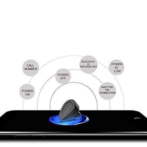 Conpush Mini Auriculares inalámbricos TWS Bluetooth En el oido Earbuds con Micrófono Incorporado y Estuche de Carga para iPhone y Android: Amazon.es: ...