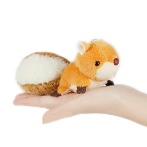 Squirrel Clip (Smilesky Stuffed Squirrel Plush Keychain Pendant Bag Ornaments Backpack Clips Toys Brown)