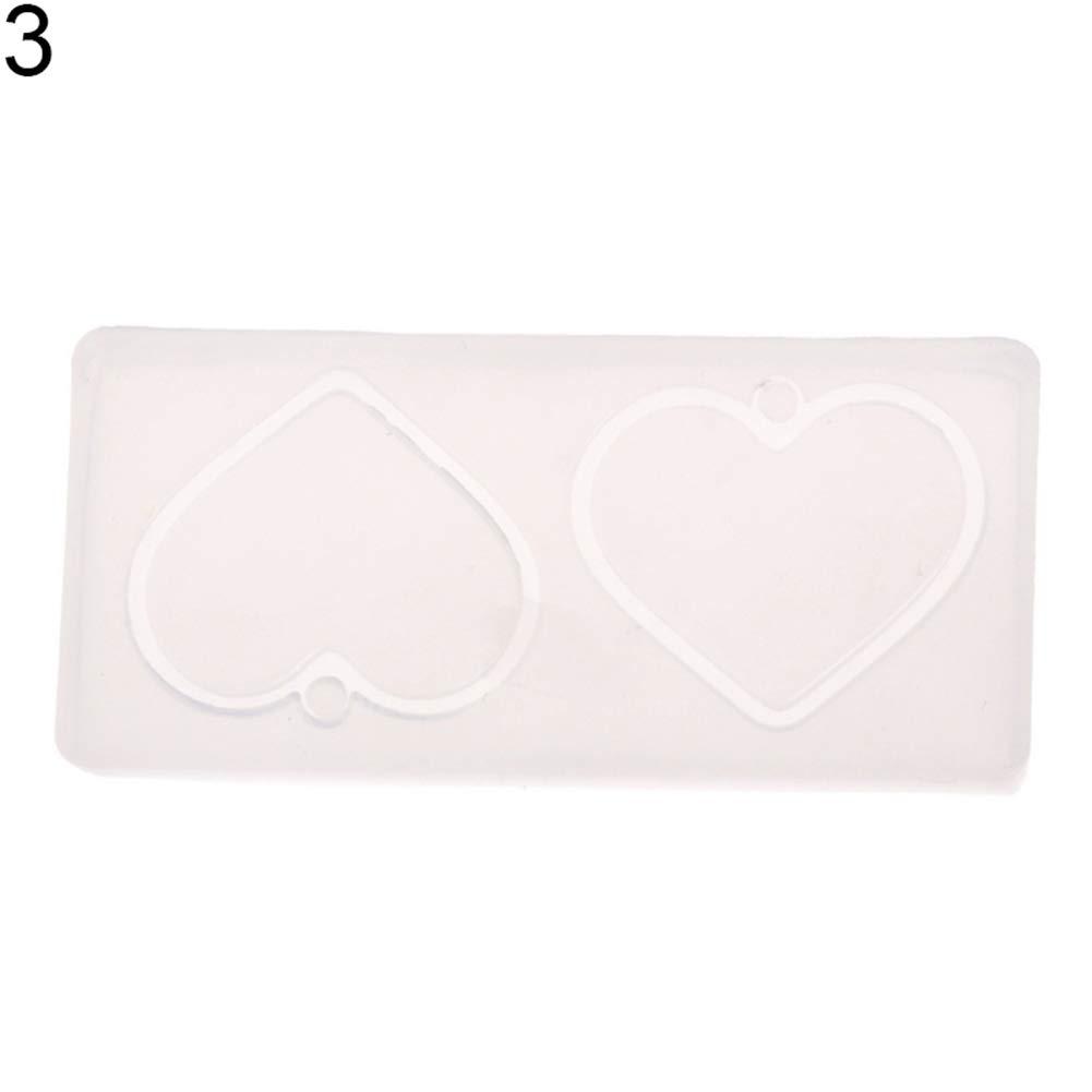 1# geshiglobal Gioielli Stampo Fiore Foglie a Forma di Cuore Making Ciondolo in Resina di Silicone Craft Tool