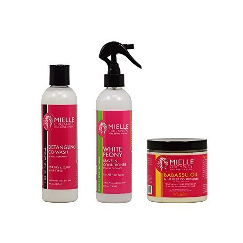 Mielle Organics Detangling Co-Wash + White Peony Leave-In Co