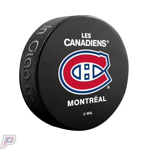 Montreal Canadiens Basic Collectors NHL Hockey Puck French (Hockey Montreal Nhl)