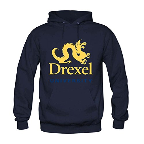 Womens Drexel University Hoody Sweatshirt M Navy