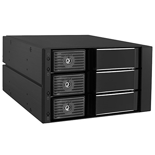 Kingwin SSHD Hard Drive Enclosure Internal Three Hot Swap Bay Mobile Rack for 3.5