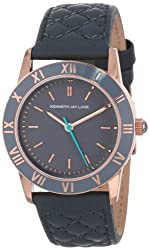 Kenneth Jay Lane Women's KJLane-3405 Grey Dial Grey Quilted Leather Watch