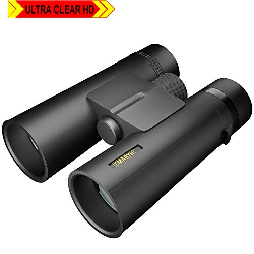 10x42 Compact Binoculars for Adults and Kids, Waterproof/Fogproof High Powered Binocular with BAK4 Prism FMC Lens Great for Bird Watching Hunting Concerts & Outdoor Sports