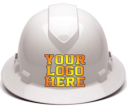 Custom Hard Hats - Personalized Logo - Pyramex Ridgeline Full Brim Vented 4 Point Ratchet Suspension ()