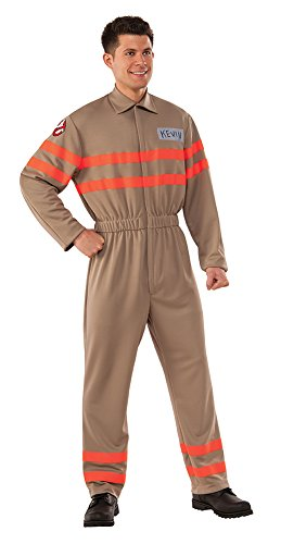 Rubie's Men's Movie Deluxe Kevin Ghostbuster Jumpsuit, Multi, X-Large (Ghostbusters Plus Size Costumes)