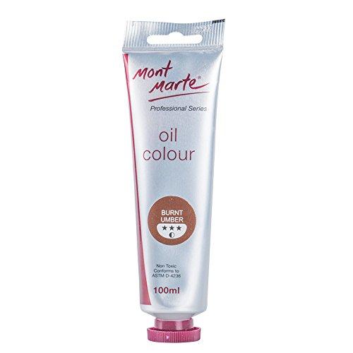 Burnt Umber Oil - Mont Marte Oil Paint 100mls - Burnt Umber